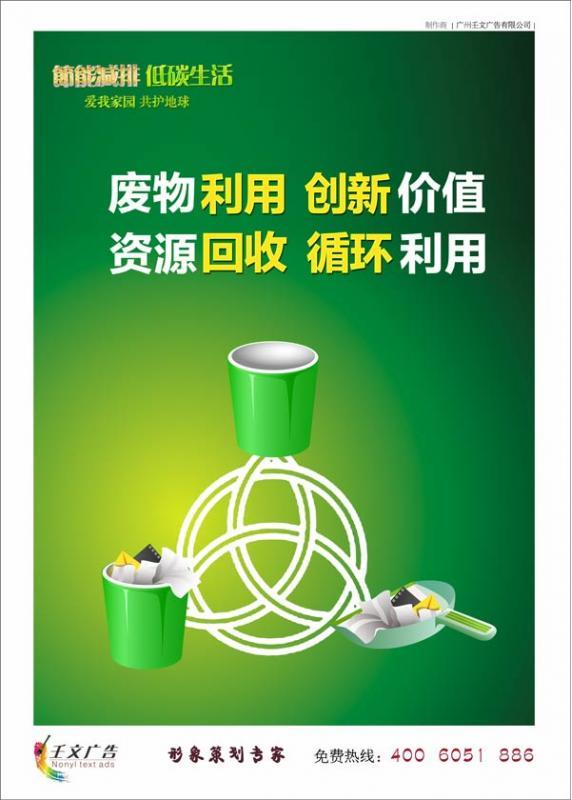 节约宣传图片_废物利用,创新价值 资源回收,循环利用