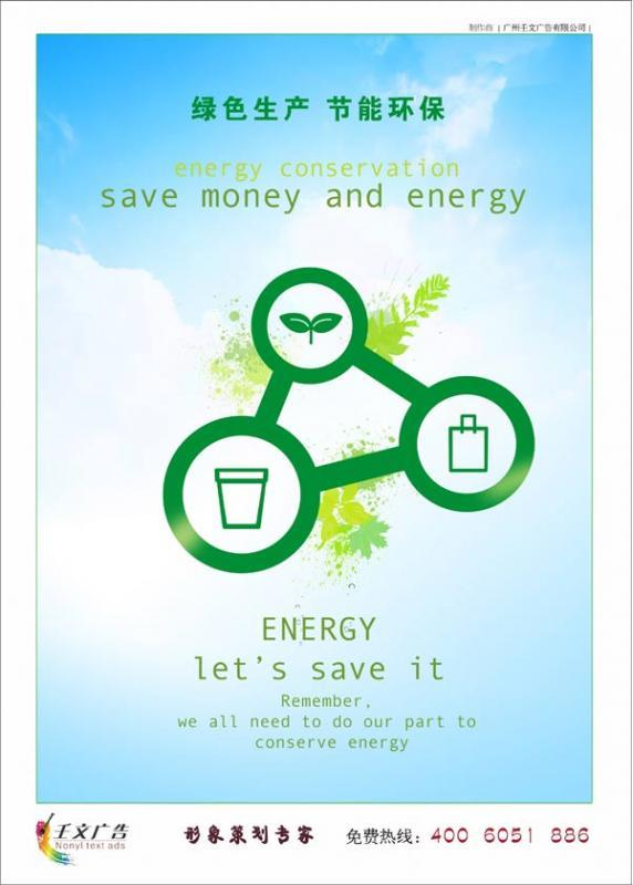 节能环保宣传画_绿色生产,节能环保