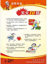 消防安全管理标语图片   消防安全灭火十招
