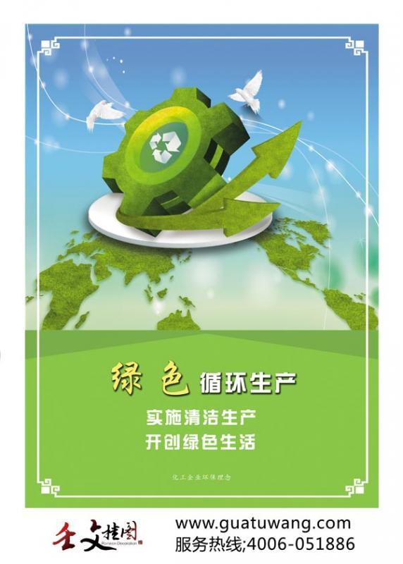 清洁生产图片  绿色循环生产